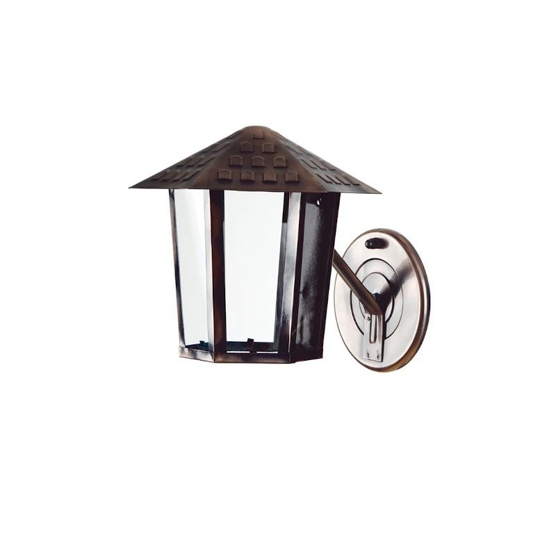 Arandela Blumenau 109600 Colonial Sextavada Vidro Liso 1 E27 Bivolt 195x195x190mm