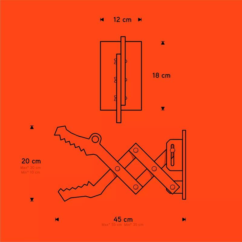 Arandela Carambola ARCR Crocco 1L E27 Bivolt 200x120x440mm Verde