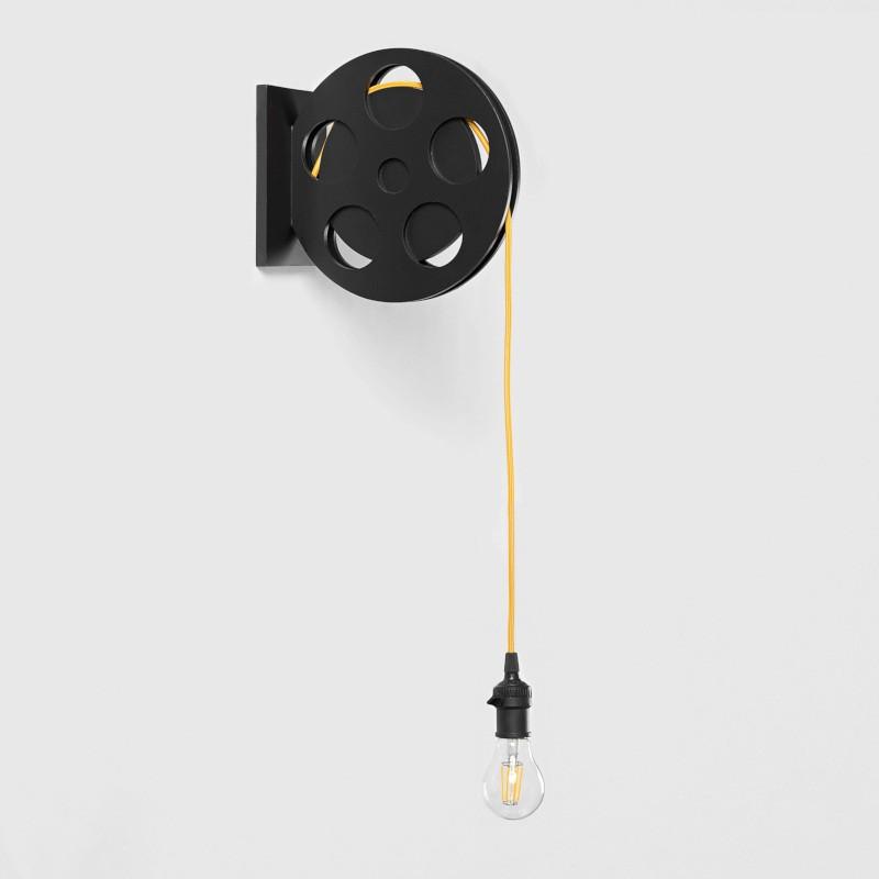Arandela Carambola ARRF Rolo de Filme 1L E27 Bivolt 250x120x255mm Preto