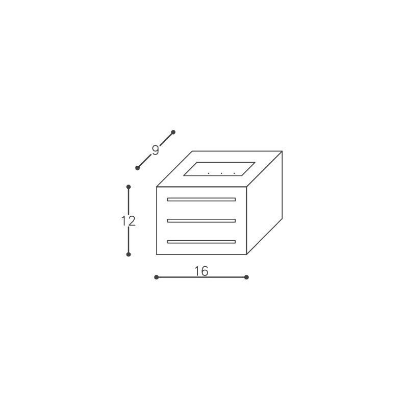 Arandela DM Lumi 211/1 1L E27 90x160x120mm
