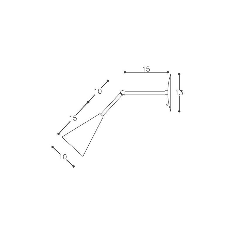 Arandela DM Lumi 623 Isis Articulada 1L E27 100x250x130mm