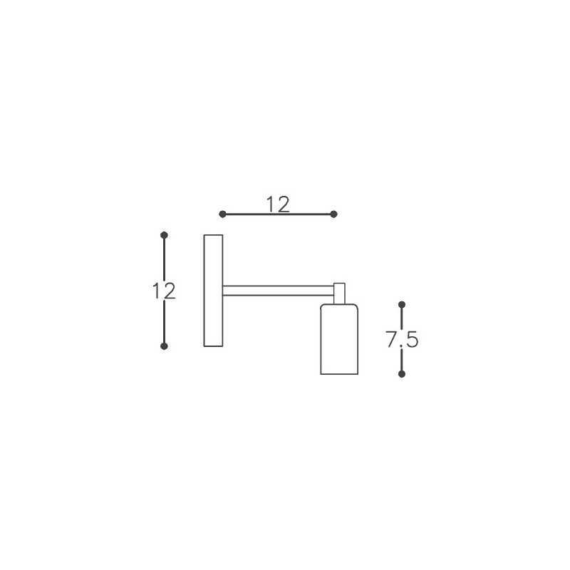 Arandela DM Lumi 625 Uno Joy 1L E27 Bivolt 120x120x75mm