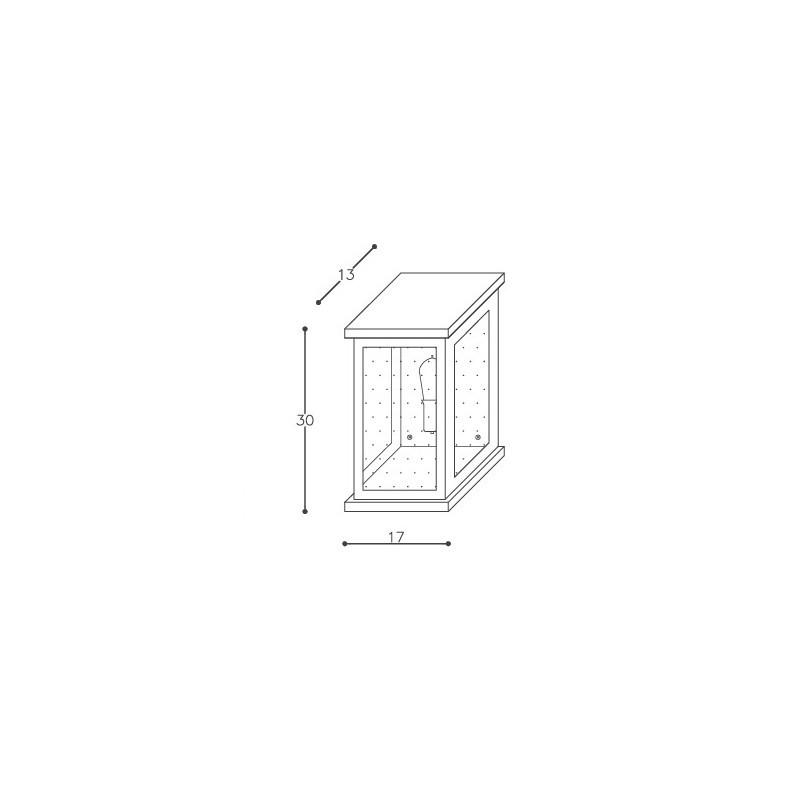 Arandela DM Lumi 667/30 Retrô 1L E27 Bivolt 300x170x130mm