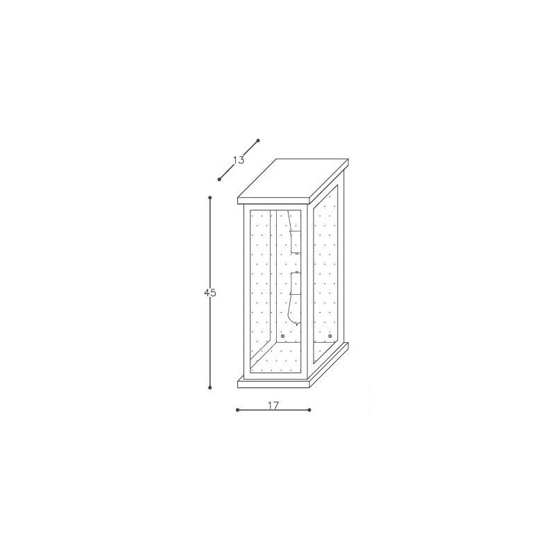 Arandela DM Lumi 667/45 Retrô 2L E27 Bivolt 450x170x130mm