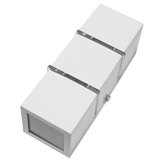 Arandela Incolustre 502.24 Friso Med 2L G9 225x80x80mm Branco