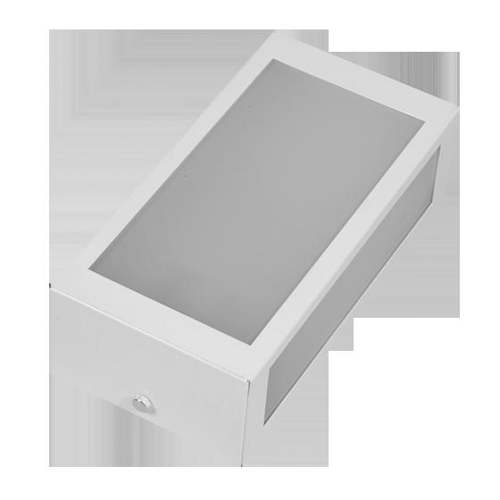Arandela Incolustre 552.20 Mini 1L E27 230x118x70mm Branco
