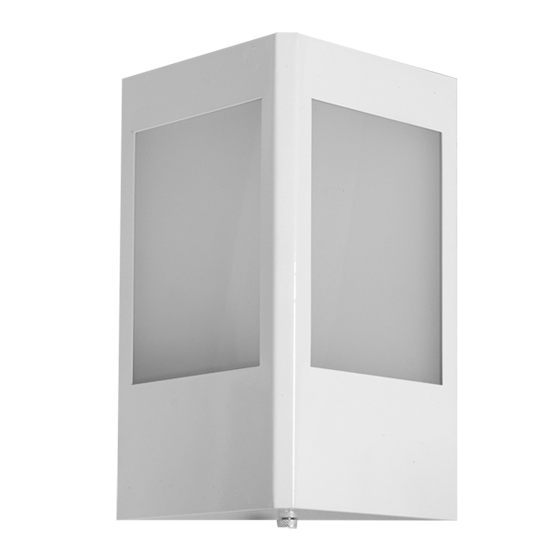 Arandela Incolustre 552.34 Mini 1L E27 210x160x100mm Branco