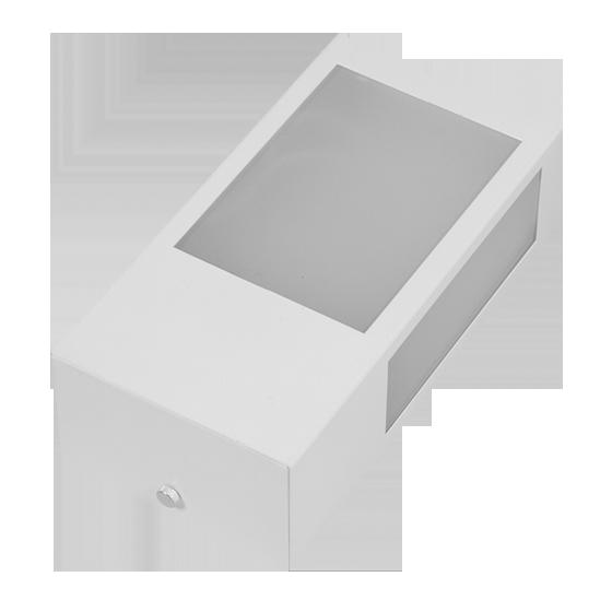 Arandela Incolustre 552.46 Mini 1L E27 230x118x70mm Branco
