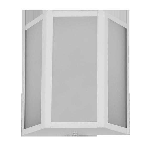 Arandela Incolustre 552.66 Mini 1L E27 220x200x85mm Branco