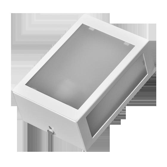 Arandela Incolustre 555.00 Mini 1L E27 195x135x90mm Branco