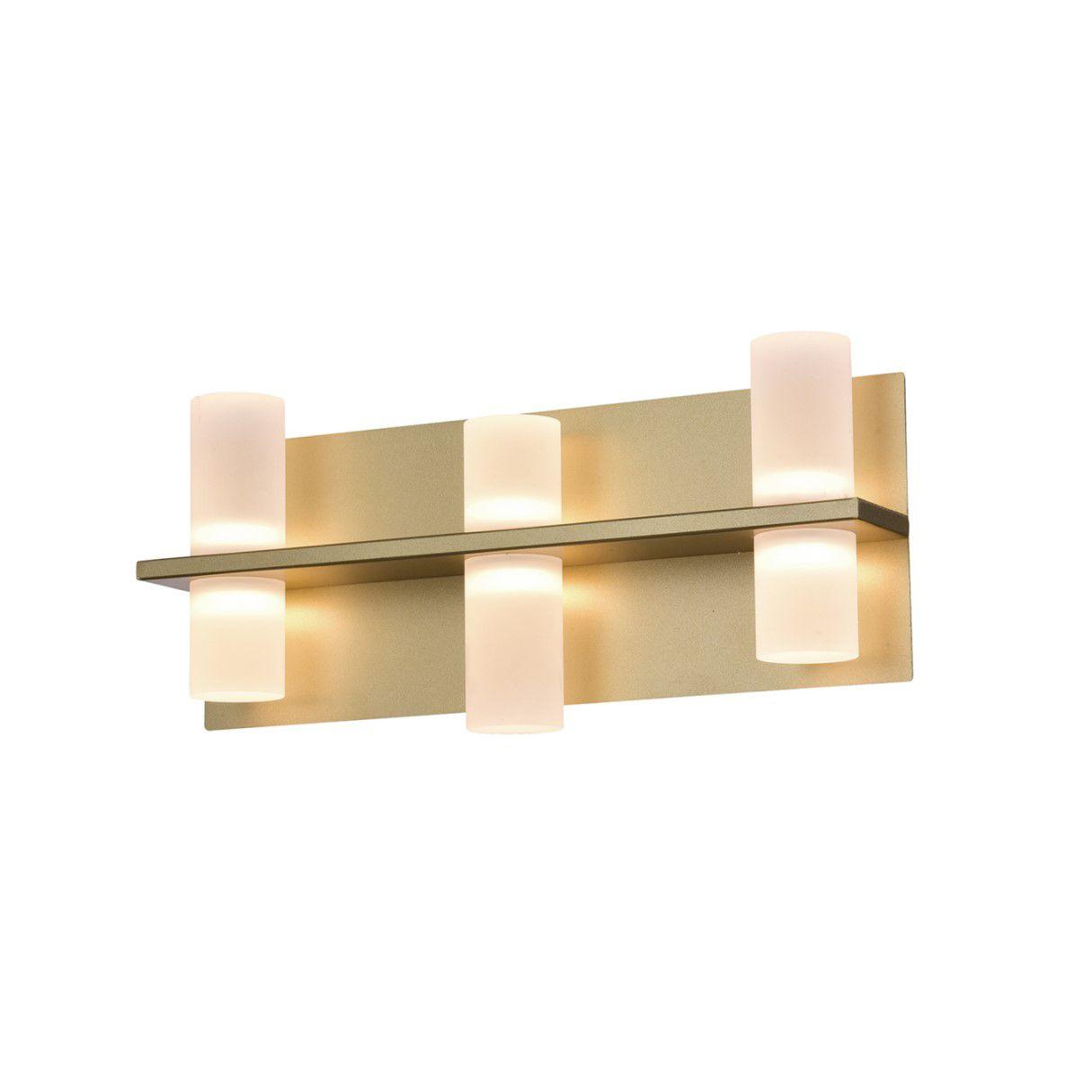 Arandela LED Bella JJ012 Clair 24W 2700K Bivolt 90x365x155mm Sand Gold Fosco