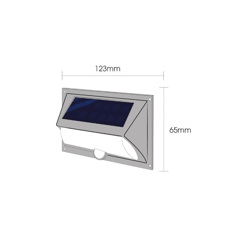 Arandela LED Ecoforce 17151 Solar 3W 3000K IP54 65x123mm