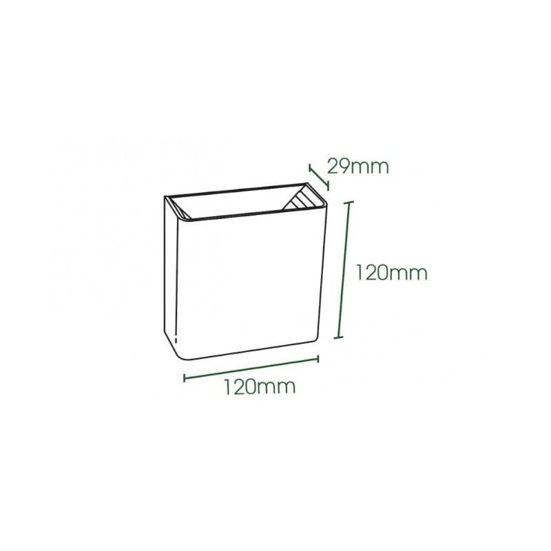 Arandela LED Ecoforce 18548 2 Fachos 3W 6500K Bivolt IP65 120x120x29mm Branco