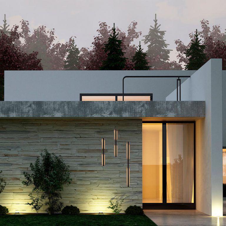 Arandela LED Newline 647LED3 Fit 32W 3000K Bivolt 1140x61x25mm