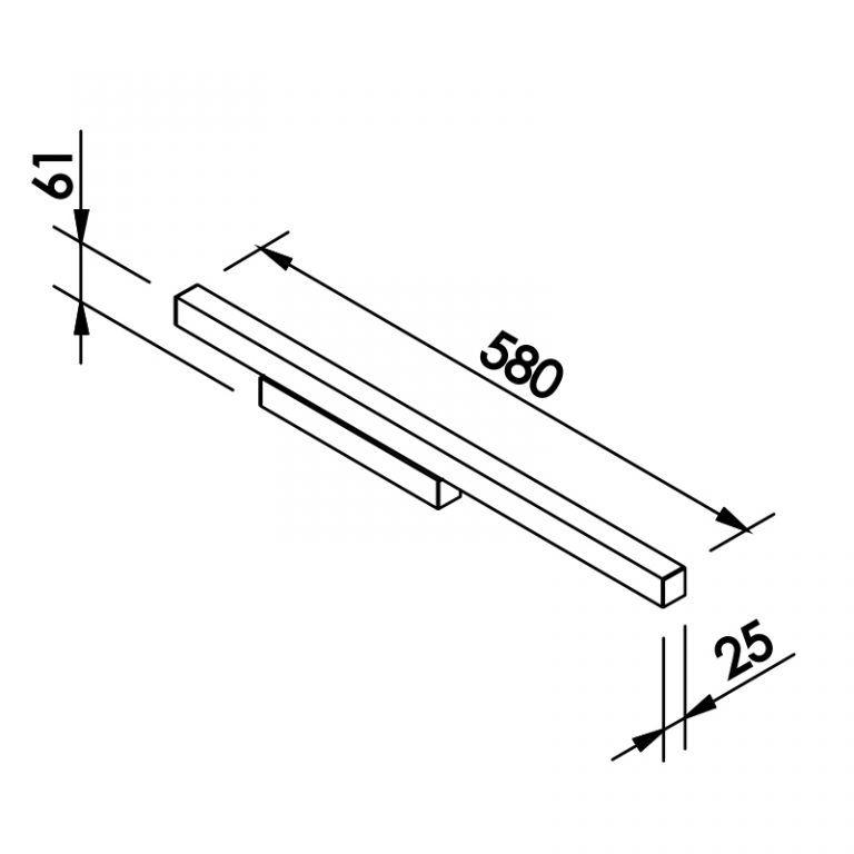 Arandela LED Newline 655LED4 Fit 16W 4000K Bivolt 580x61x25mm
