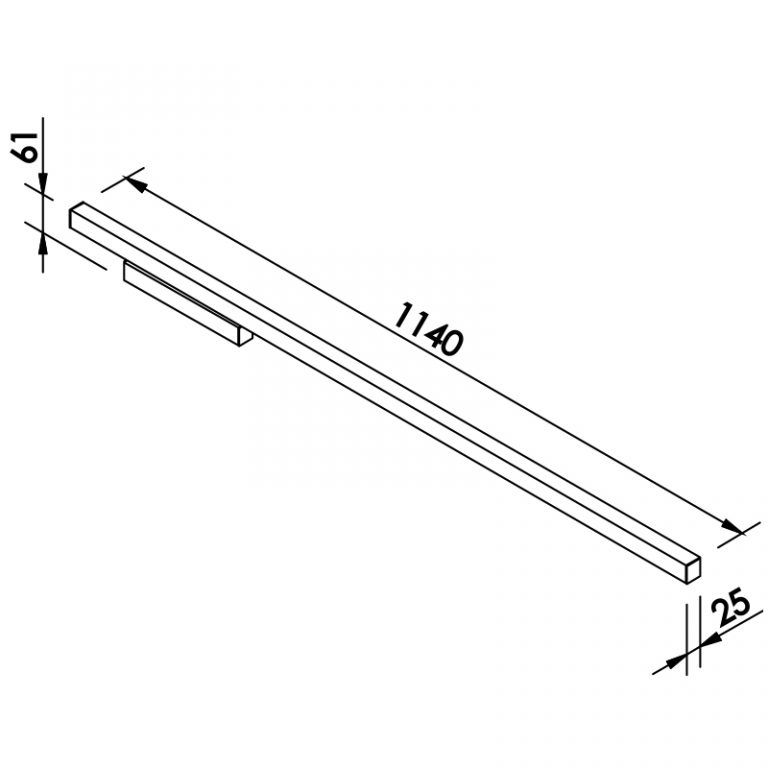 Arandela LED Newline 657LED4 Fit 32W 4000K Bivolt 1140x61x25mm
