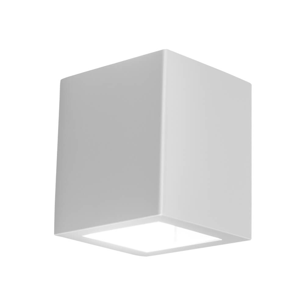 Arandela LED Newline 9586LED1 Quadrada Externa 2 Fachos IP43 12W 2700K 127V 85x92x100mm