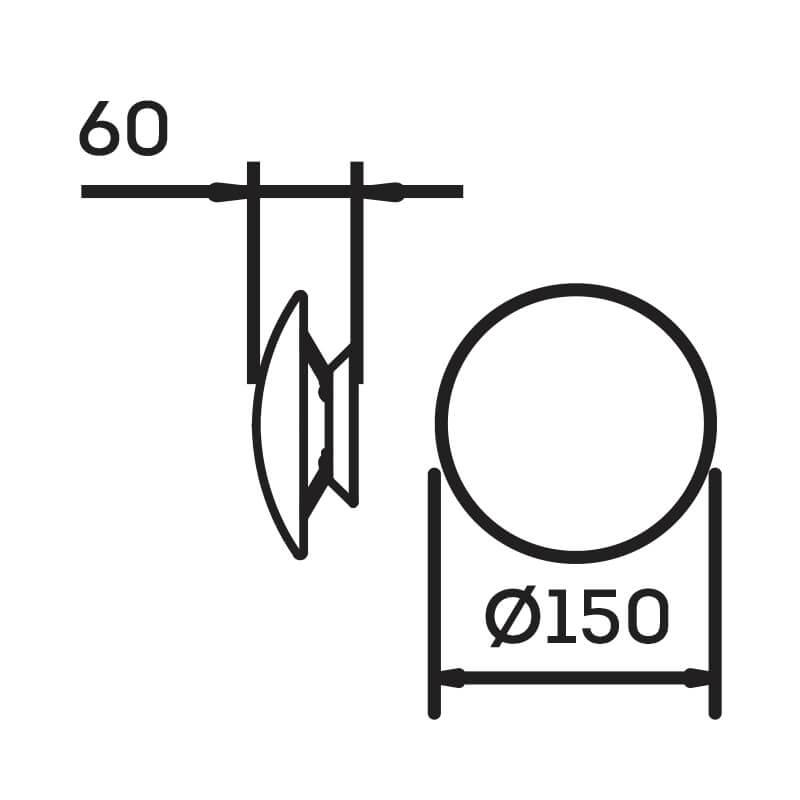Arandela LED Newline IN40020 Pleine Lune 6W 2700K 127V Ø150x60mm