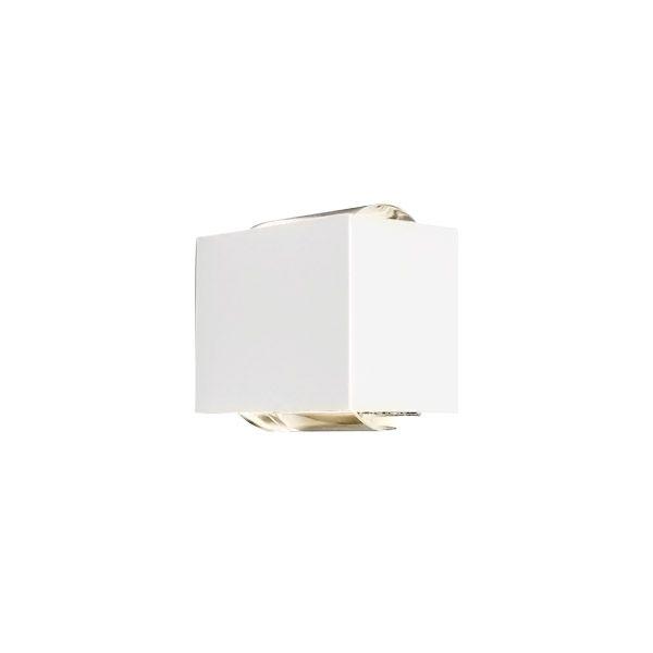 Arandela LED Newline SNT027LED1 Lens 2 Fachos Aberto+Fechado 12W 2700K 127V 100x150x135mm