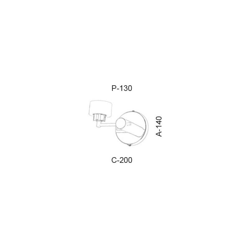 Arandela Led Old Artisan AR-5391 5.5W 2700K 220V 140x200x130mm