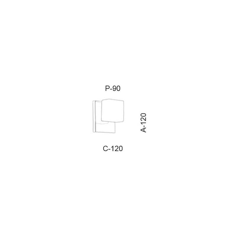Arandela Led Old Artisan AR-5394 5.5W 2700K 110V 120x120x90mm