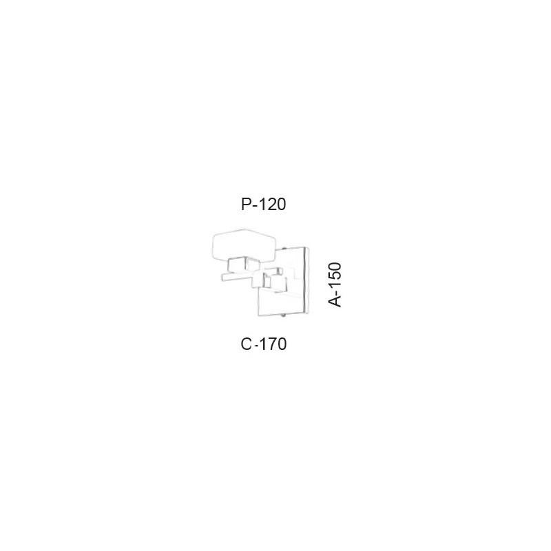 Arandela Led Old Artisan AR-5396 5.5W 2700K 220V 150x170x120mm