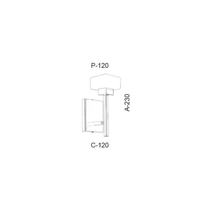 Arandela Led Old Artisan AR-5397 5.5W 2700K 220V 230x120x120mm
