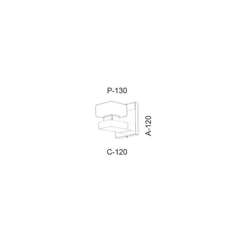 Arandela Led Old Artisan AR-5399 5.5W 2700K 220V 120x120x130mm