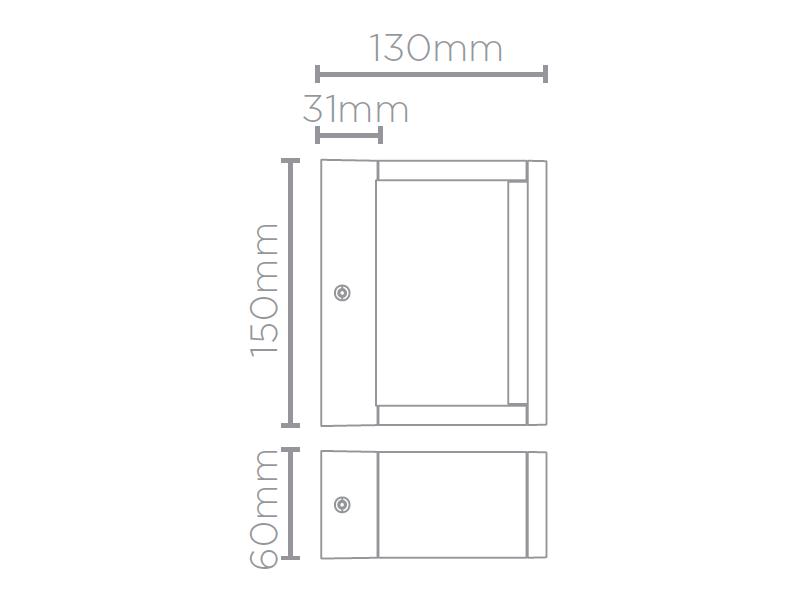 Arandela LED Stella STH9726/30 Recognizer 7W 3000K IP65 Bivolt 130x150x60mm - Preto