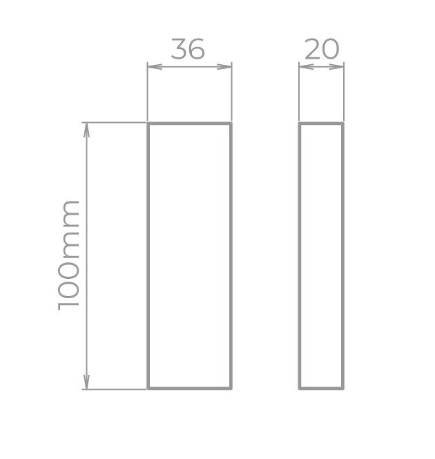 Arandela LED Stella STH9730PTO/30 Wall Mini 2 Fachos Aberto 5W 3000K IP65 Bivolt 36x100x20mm - Preto
