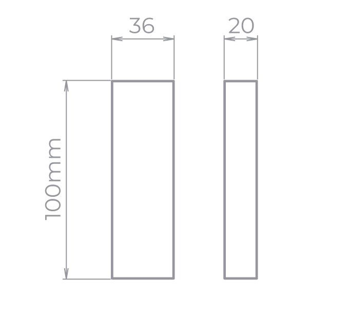 Arandela LED Stella STH9731PTO/30 Wall Mini 2 Fachos Aberto/Fechado 5W 3000K IP65 Bivolt 36x100x20mm - Preto