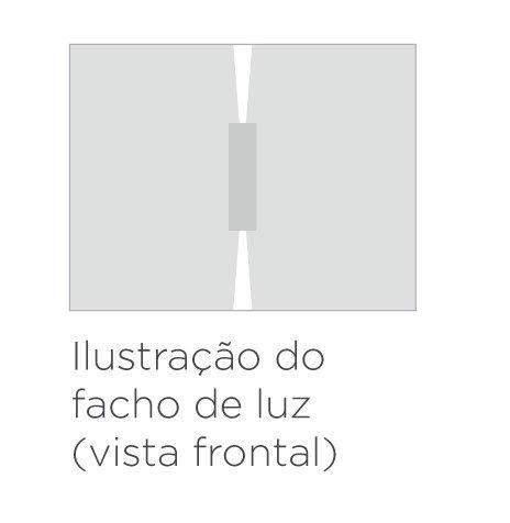 Arandela LED Stella STH9732BR/30 Wall Mini 2 Fachos Fechado/Fechado 5W 3000K IP65 Bivolt 36x100x20mm - Branco
