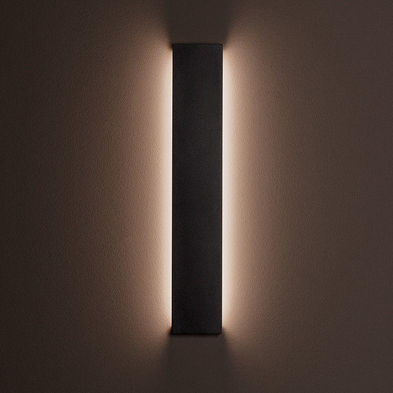 Arandela LED Stella STH9741PTO/30 Reflex 72cm 20W 3000K IP65 Bivolt 26x720x115mm - Preto