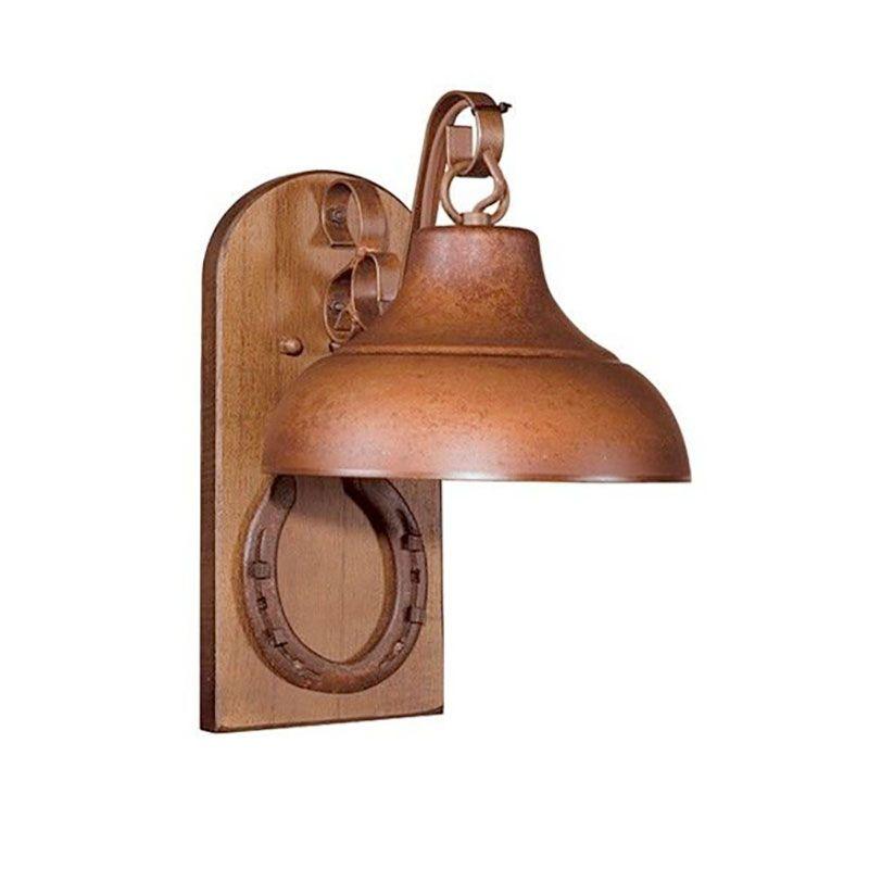 Arandela Madeira Madelustre 426 Estância Ferradura 1L E27 270x340mm