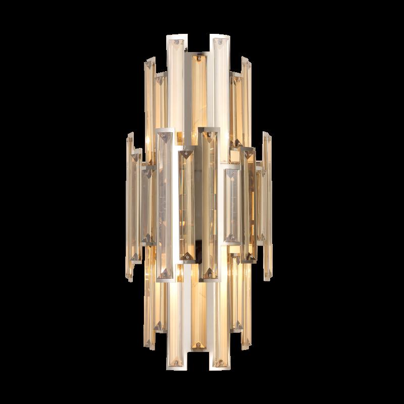 Arandela Mantra 30522 Milano C/ Cristal Cognac 2L E14 460x210x120mm