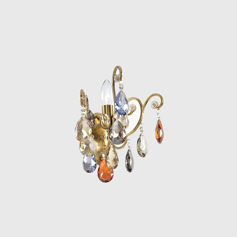 Arandela Tupiara 2-5001-AR-BZ Celestial 1L E14 Ø200x280mm Bronze/Colorido