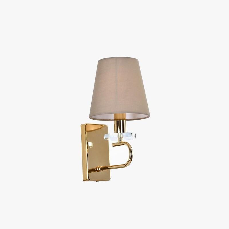 Arandela Tupiara 2-5401-AR-DR Flow 1L E14 Ø180x300mm Metal Dourado