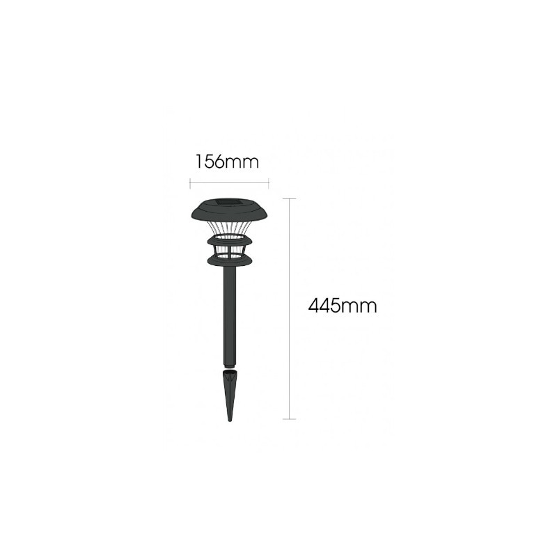 Balizador Ecoforce LED 16738 Solar ABS 0.2W 6000K IP54 156x156x445mm