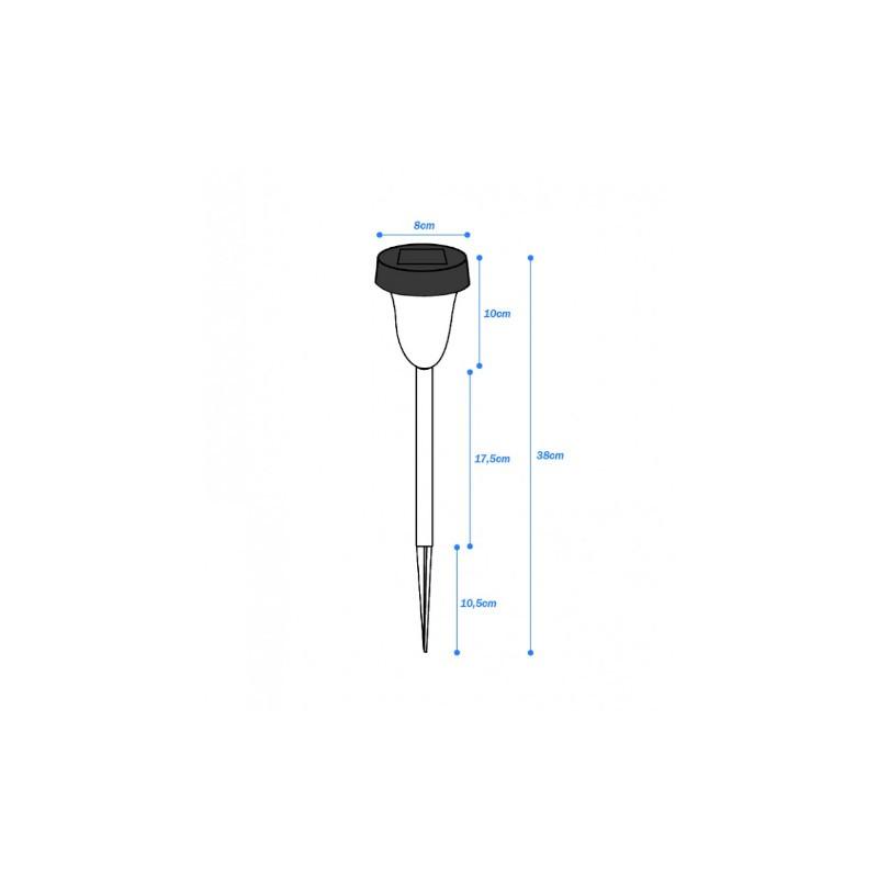 Balizador Ecoforce LED 18365 Solar 0.1W 3000K IP54 90x90x375mm