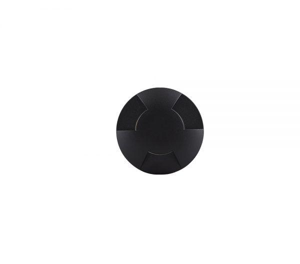 Balizador Embutido LED Brilia 302624 IP67 3 Fachos 0,75W 2700K 40G Bivolt Ø58x92mm - Preto