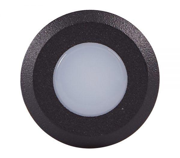 Balizador Embutido LED Brilia 302648 IP67 Nano 0,45W 2700K 120G Bivolt Ø26x58mm - Preto