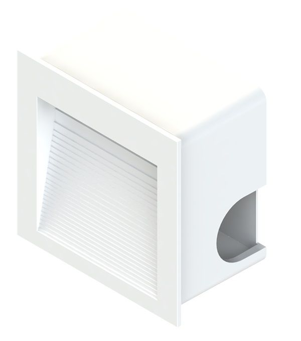 Balizador Embutir LED Save Energy SE-355.1446 1,5W 3000K 60G Bivolt 80x80x44mm