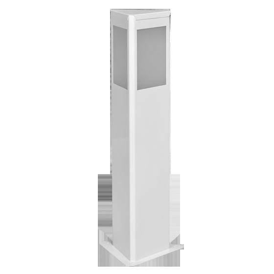 Balizador Incolustre 552.06 Square 1L E27 700x185x160mm Branco