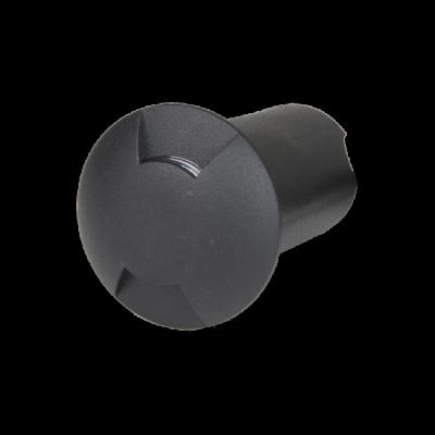 Balizador LED Romalux 10041 2 Fachos 0,7W 2700K IP66 Bivolt Ø60X92,5MM Preto