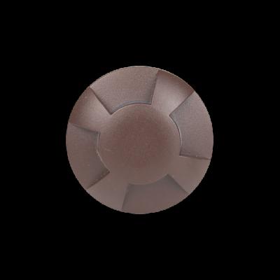 Balizador LED Romalux 10047 4 Fachos 0,7W 2700K IP66 Bivolt Ø60X92,5MM Marrom Corten
