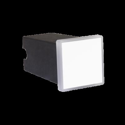 Balizador LED Romalux 10090 Soft Quadrado 2W 2700K IP66 Bivolt 50x50mm Branco