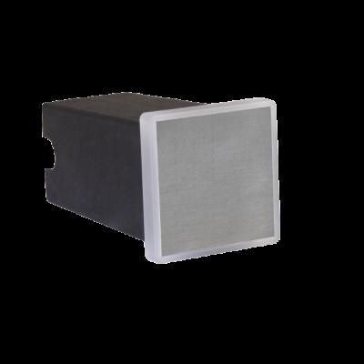 Balizador LED Romalux 10092 Soft Quadrado 2W 2700K IP66 Bivolt 50x50mm Inox