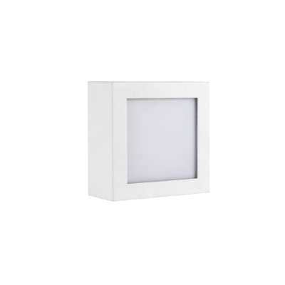 Balizador LED Romalux 90009 Scatola 4,5W 2700K IP66 Bivolt 102x102mm Branco