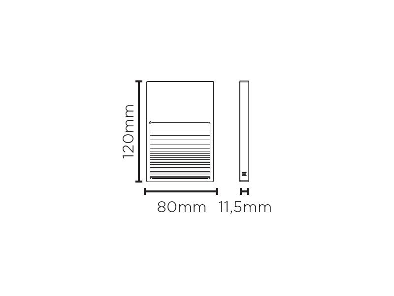 Balizador Sobrepor LED Stella STH8751/30 Neu II 2W 3000K IP65 Bivolt 11,5x80x120mm - Preto