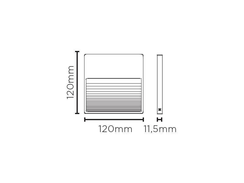 Balizador Sobrepor LED Stella STH8756/30 Big Neu II 3W 3000K IP65 Bivolt 11,5x120x120mm - Preto